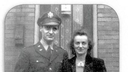 George and Mirjana Vujnovich in September 1943, when George returned from Africa to undergo OSS training in Virginia