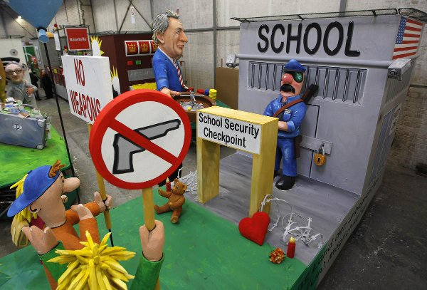 US school security checkpoint