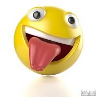 3D smiley with tongue out