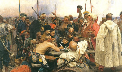 Ilya Repin: Reply of the Zaporozhian Cossacks - click for full view