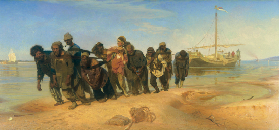 Barge Haulers on the Volga by Ilya Repin