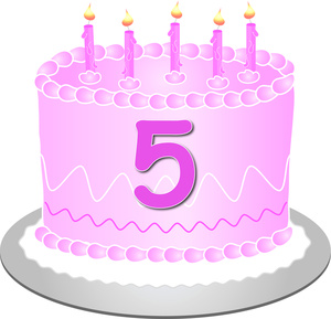 Fifth Birthday Cake - image courtesy of computerclipart.com