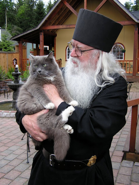 Abbot Tryphon with cat