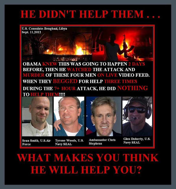 Benghazi: He didn't help them. What makes you think he will help you?