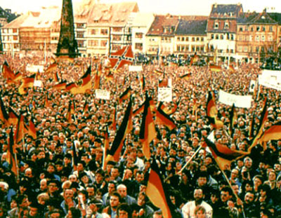 Dixie Flag at the fall of the Berlin Wall