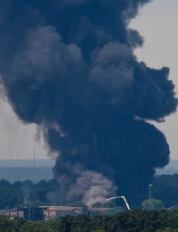 Thumbnail of Cayce recycling plant fire