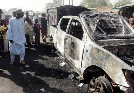Easter car bombing in Nigeria 2012