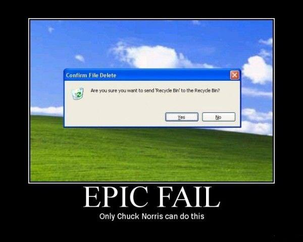 EPIC FAIL - only Chuck Norris can do this
