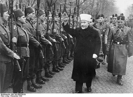 Haj Amin al-Husseini with Bosnian SS troops
