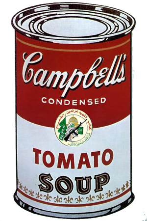 Campbell's Soup can with ISNA logo