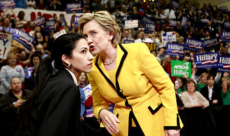 Huma Abedin with Hillary Clinton