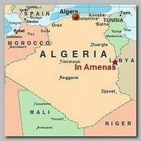 Map: Location of In Amenas in Algeria