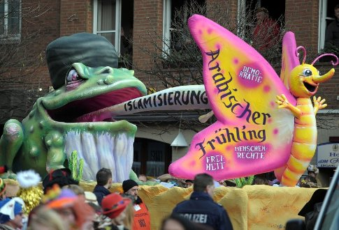 Arab Spring/Islamization float in 2012 Cologne Carnival parade