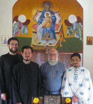 Witnessing the explosion of Orthodoxy in Guatemala(from left) Seminarian Jesse Brandow, Fr. Blas, Fr. John Chakos, Fr. Alexios