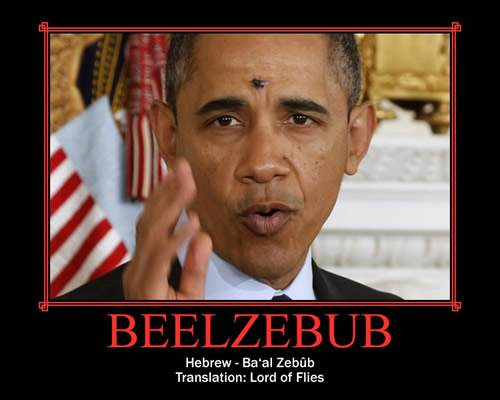Obama with fly on face: Beelzebub, Lord of the Flies