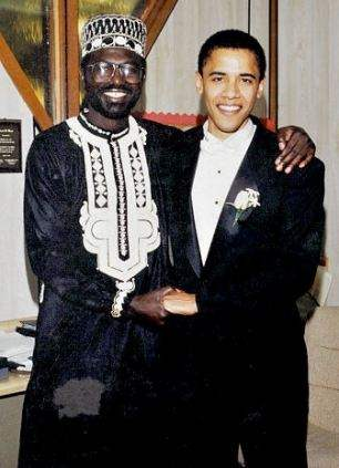 Malik Obama (left) with Barack Obama at his wedding to Michelle. The US President asked his half-brother to be best man at the ceremony
