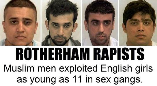 Muslim rape gang exploited English girls as young as 11 in Rotherham
