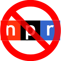 NPR logo with red slashed circle