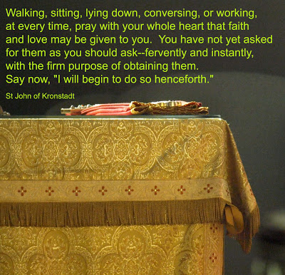 Quote from St. John of Kronstadt