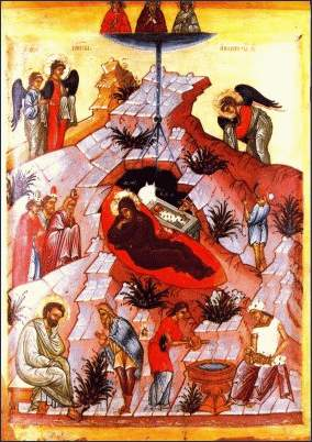 Icon of the Nativity of Our Lord - Novgorod School, 15th Century