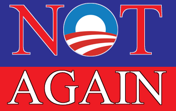 Bumper sticker: 'O' Not Again