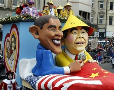 Obama in bed with Hu Jintao