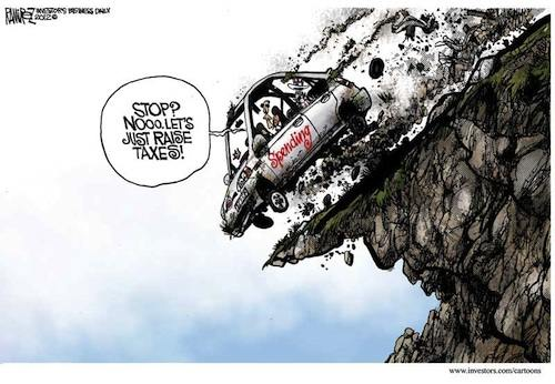 Obama's driving off a cliff: 'Stop spending? Nooo, let's just raise taxes!'