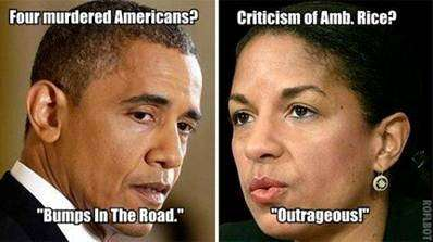 Four Murdered Americans? 'Bumps in the road.' Criticism of UN Amb. Susan Rice: 'Outrageous!'