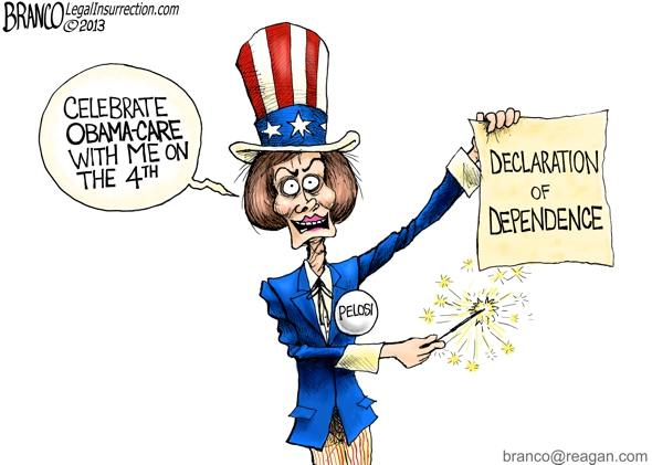 Pelosi: Celebrate Obamacare with me on the 4th - Declaration of Dependence