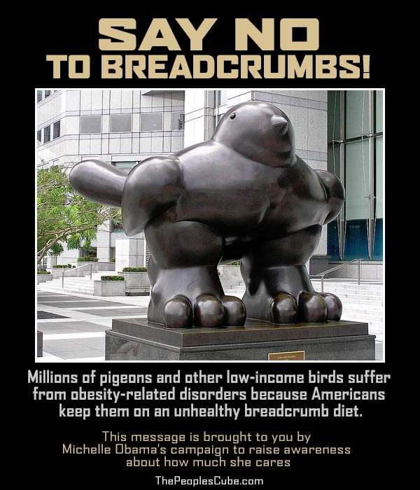Pigeon Obesity Campaign: Say 'No' to Breadcrumbs