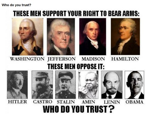These men support your right to keep and bear arms; these men oppose it. Who do you trust?