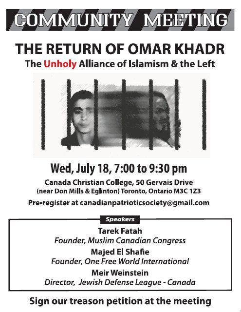 Poster for 'Return of Omar Khadr'