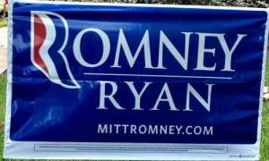 Romney-Ryan Yard Sign