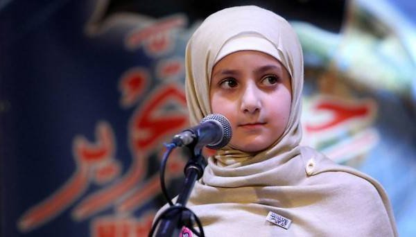 8-year-old girl Ruqaya speaks before Hizb ut-Tahrir