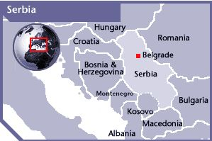 Outline map of Serbia