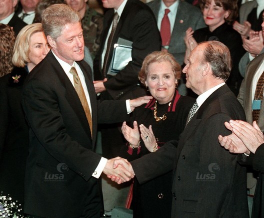 Albright Clinton Izetbegovic