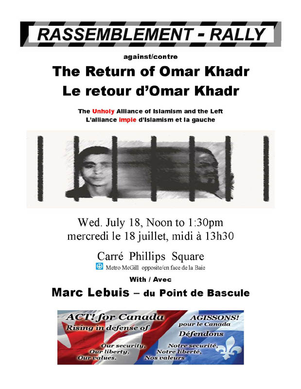 Montreal Anti-Khadr event poster