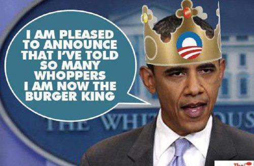 Obama as Burger King
