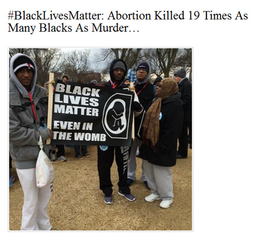 #BlackLivesMatter - even in the womb