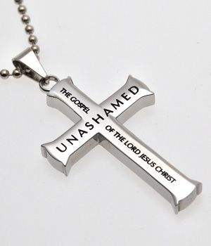 Cross necklace: Unashamed - The Gospel of the Lord Jesus Christ