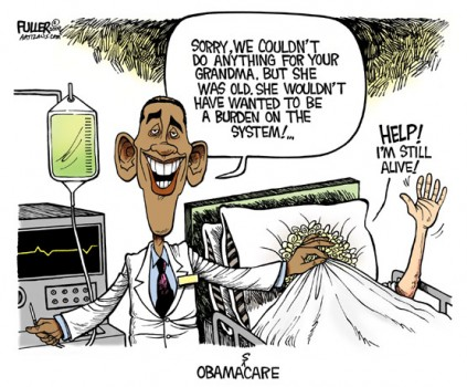 Obama doesn't want Grandma to be a burden on the system