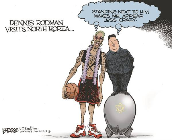 Dennis Rodman visits the Norks