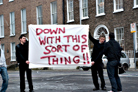 Protest sign: Down with this sort of thing