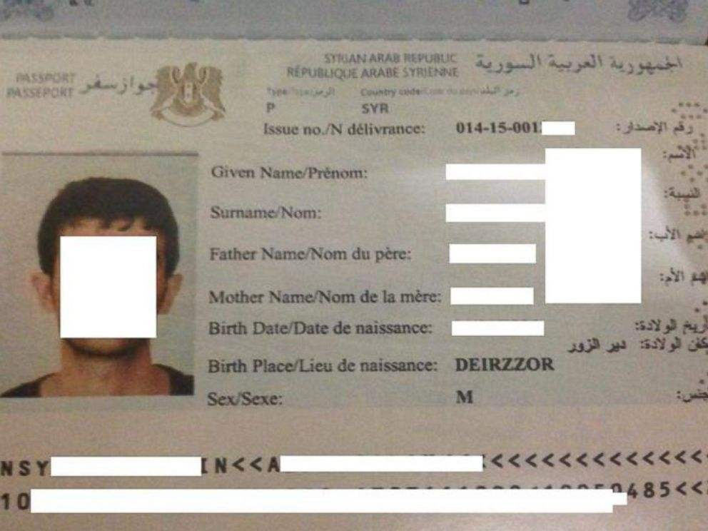 Fake Syrian passport seized from ISIS territory