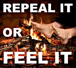 Graphic of feet being held to the fire