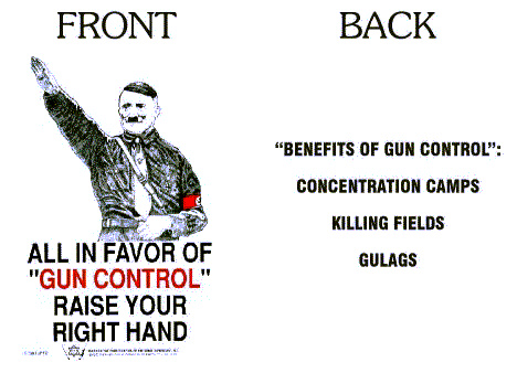JPFO T-shirt: Benefits of gun control: Concentration camps, killing fields, gulags