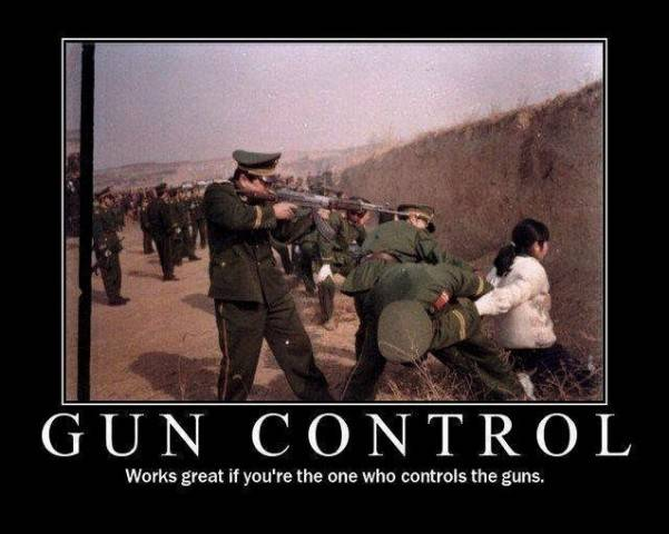 Gun control works great if you're the one who controls the guns