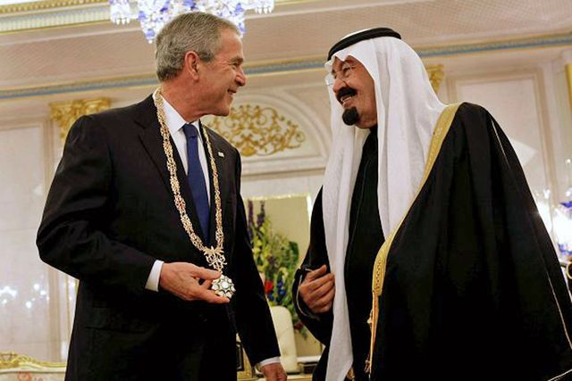 GWB with KSA King Abdullah