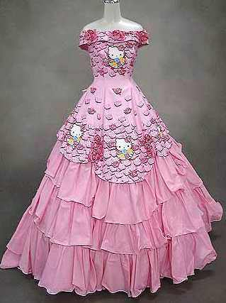 Pink Hello Kitty wedding dress