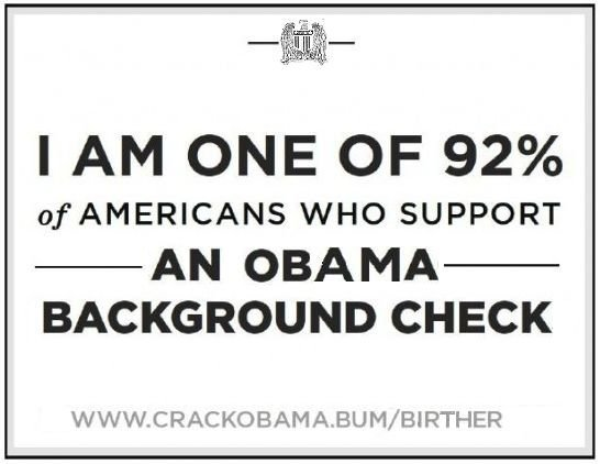 I support an Obama background check
